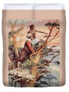 The First Englishman To See The Pacific Duvet Cover