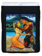 The First Kiss Duvet Cover