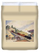 The First Paris To Rouen Railway, Copy Duvet Cover by French School