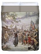 The First Sermon Ashore Duvet Cover