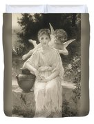 The First Whisper Of Love After Bouguereau Duvet Cover