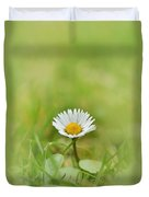 The First White Daisy Duvet Cover