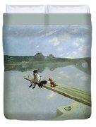 The Fisherman, 1884 Duvet Cover