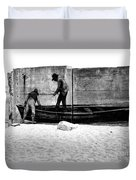 The Fishermen And The Sea... Duvet Cover