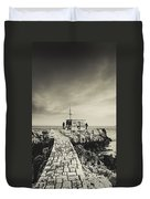 The Fishermen's Hut Duvet Cover by Marco Oliveira