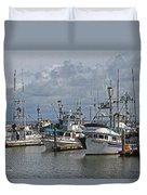 The Fishing Boats At Westport Duvet Cover
