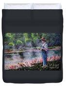 The Fishing Boy Duvet Cover
