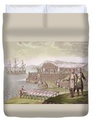 The Fishing Industry In Newfoundland Duvet Cover by G Bramati