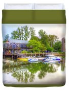 The Fishing Village Duvet Cover