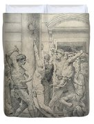 The Flagellation Of Christ Duvet Cover by William Adolphe Bouguereau