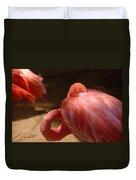 The Flamingo Wakens Duvet Cover