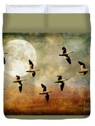 The Flight Of The Snow Geese Duvet Cover