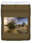 The Floods At Stoke Canon  Duvet Cover