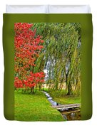 The Flow Of Autumn Duvet Cover