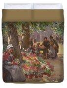 The Flower Seller Duvet Cover