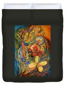 The Flowers Of Holy Land Duvet Cover