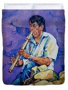 The Flute Player Duvet Cover
