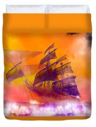 The Flying Dutchman Ghost Ship Duvet Cover