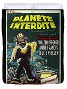 The Forbidden Planet Vintage Movie Poster Duvet Cover