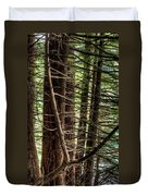 The Forest Combed By The Wind In The Lake Duvet Cover