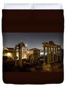 The Forum Temples At Night Duvet Cover
