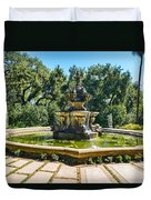 The Fountain - Iconic Fountain At The Huntington Library. Duvet Cover