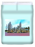 The Fountain At Justin Herman Plaza Near Embarcadero In San Francisco-california Duvet Cover