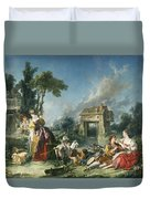 The Fountain Of Love Duvet Cover