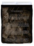 The Four Agreements Duvet Cover