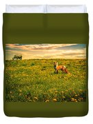 The Fox And The Cow Duvet Cover