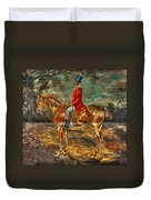 The Fox Hunt With Light Antique Store Mural Griffin Georgia Art Duvet Cover