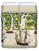 The French Discvoer Six More Rivers Duvet Cover