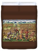 The French Help The Indians In Battle Duvet Cover