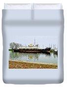 The Friesland In Enkhuizen Harbor-netherlands Duvet Cover