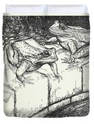 The Frogs And The Well Duvet Cover