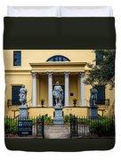 The Front Of The Telfair Museum Of Art Duvet Cover