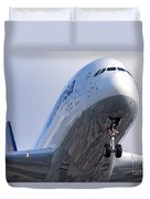 The Front Office Lufthansa Airbus A-380 Duvet Cover