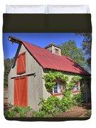 The Garden Barn Duvet Cover