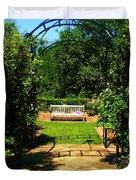 The Garden Bench Duvet Cover