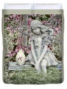 The Garden Fairy Duvet Cover by Peggy Hughes