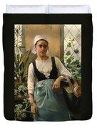 The Garden Girl Duvet Cover