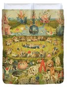 The Garden Of Earthly Delights Allegory Of Luxury, Central Panel Of Triptych, C.1500 Oil On Panel Duvet Cover