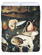 The Garden Of Earthly Delights Hell, Right Wing Of Triptych, C.1500 Oil On Panel See 322, 3425 Duvet Cover