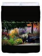 The Garden Of Life Duvet Cover