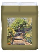 The Garden Stairs Duvet Cover