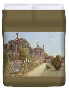 The Gardens At Montacute In Somerset Duvet Cover