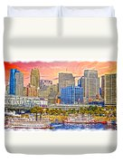 The Garish City Cincinnati Duvet Cover