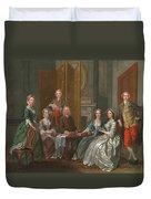 The Gascoigne Family, C.1740 Duvet Cover