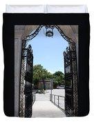 The Gate At Vizcaya Gardens Duvet Cover