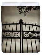 The Gate In Sepia Duvet Cover